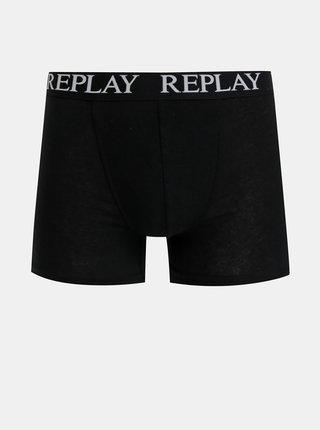 Sada dvoch boxeriek v čiernej a bielej farbe Replay