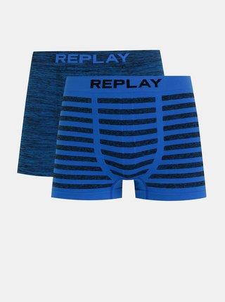 Sada dvou boxerek v modré barvě Replay