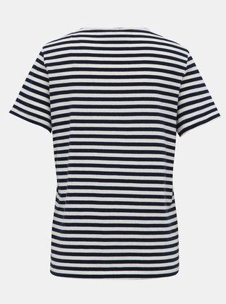 Bielo-modré pruhované basic tričko VILA Sus