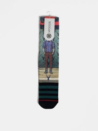 Zelené pánske ponožky XPOOOS