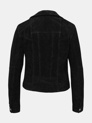 Černý kožený křivák VERO MODA Royce Salon