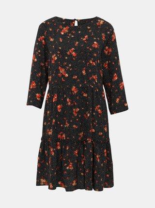Černé květované šaty M&Co
