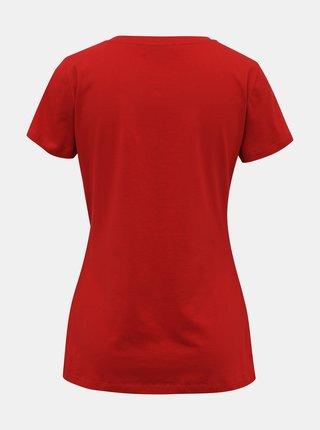 Červené dámské basic tričko ZOOT Dana