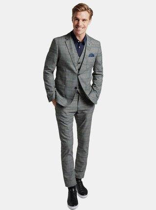 Šedé kostkované pánské sako Tom Tailor