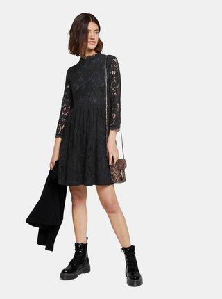 Čierne krajkové šaty Tom Tailor Denim
