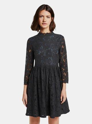 Černé krajkové šaty Tom Tailor Denim