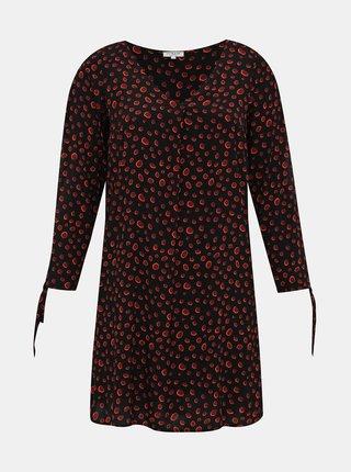 Čierne bodkované šaty My True Me Tom Tailor