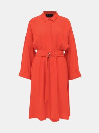 Červené košilové šaty Selected Femme Emery