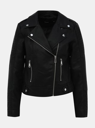 Čierna koženková bunda VERO MODA Kerriultra