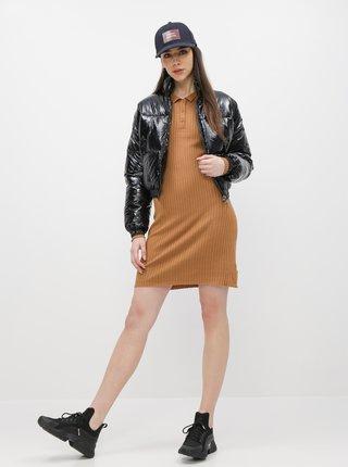 Hnedé svetrové šaty Noisy May Emily