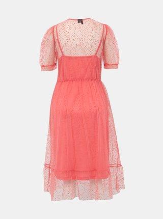 Růžové puntíkované šaty VERO MODA Masha
