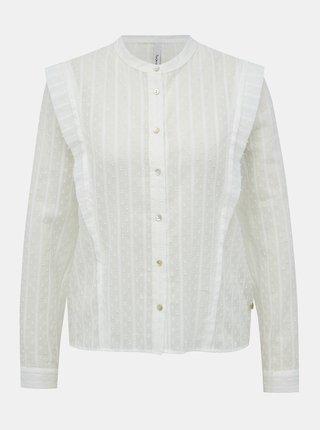 Biela dámska vzorovaná košeľa Pepe Jeans Mousse