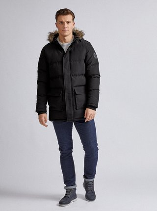 Čierna zimná bunda Burton Menswear London