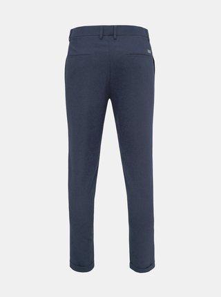 Tmavě modré kostkované zkrácené kalhoty Lindbergh
