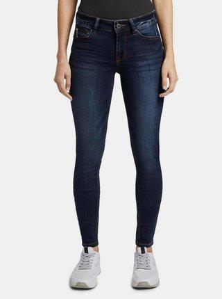 Tmavě modré dámské skinny fit džíny Tom Tailor Denim