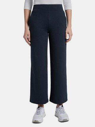 Tmavě modré dámské široké kalhoty Tom Tailor