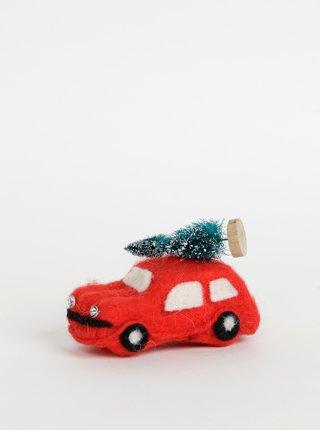 Červená vianočná dekorácia Sass & Belle Car
