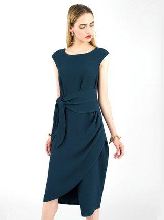 Tmavomodré púzdrové šaty Closet