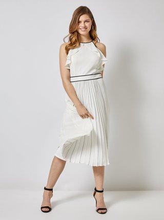 Bílé plisované šaty Dorothy Perkins