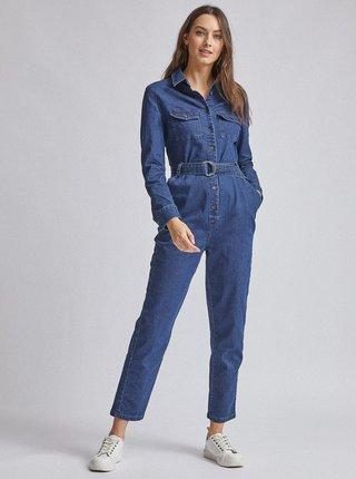 Tmavě modrý džínový overal Dorothy Perkins