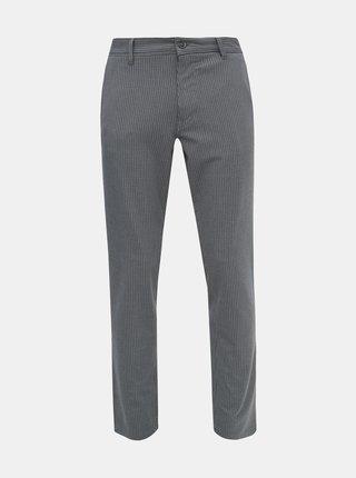 Šedé kostkované chino kalhoty Selected Homme Storm