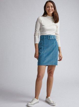 Modrá manšestrová pouzdrová sukně Dorothy Perkins