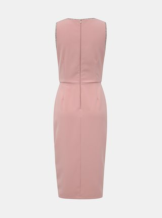 Ružové púzdrové šaty Paper Dolls