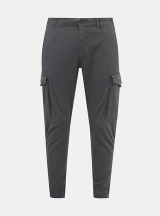 Šedé tapered fit kalhoty Jack & Jones Paul