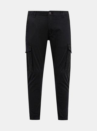 Černé tapered fit kalhoty Jack & Jones Paul
