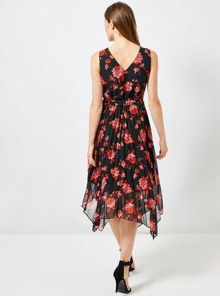 Červeno-čierne kvetované šaty Dorothy Perkins