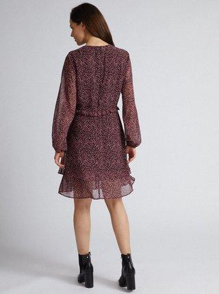 Fialové šaty s gepardím vzorem Dorothy Perkins