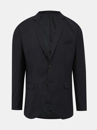 Čierne oblekové sako s prímesou vlny Jack & Jones Solaris