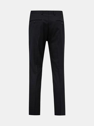 Černé oblekové slim fit kalhoty s příměsí vlny Jack & Jones Solaris