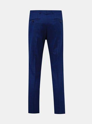 Modré oblekové slim fit kalhoty s příměsí vlny Jack & Jones Solaris