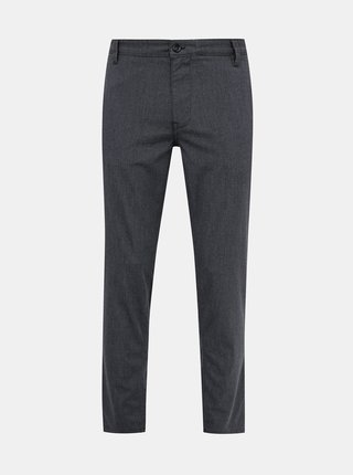 Šedé slim fit kalhoty Selected Homme