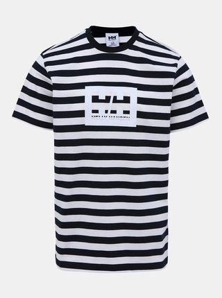 Bílo-modré pruhované tričko s potiskem HELLY HANSEN Tokyo