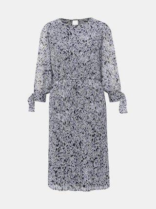 Modré květované šaty VILA Moltan