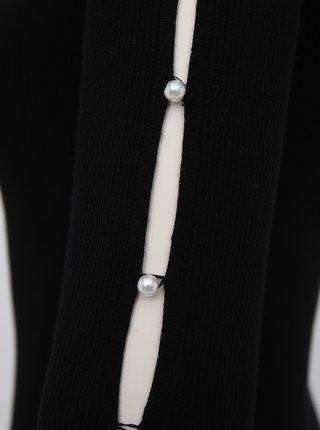 Černé pouzdrové svetrové šaty TALLY WEiJL Delta