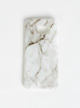 Biely vzorovaný obal na Samsung Galaxy S7 Edge Haily´s Marbel