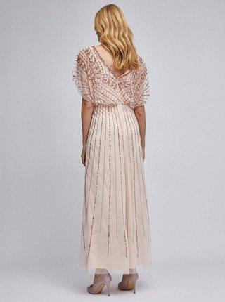 Světle růžové tylové maxišaty Dorothy Perkins