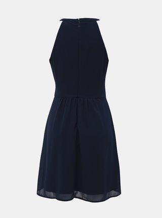 Tmavomodré šaty s krajkou VILA Milina