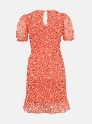 Oranžové kvetované šaty Miss Selfridge Petites