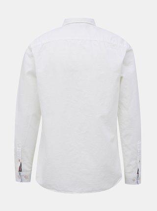 Bílá košile s příměsí lnu Jack & Jones Summer