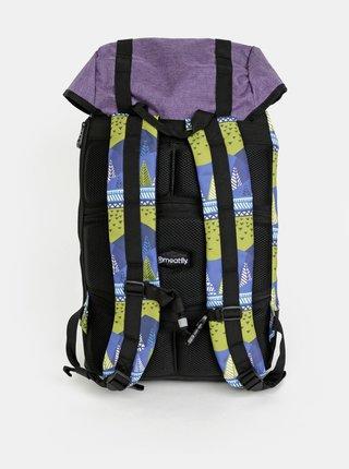 Zeleno-modrý vzorovaný batoh Meatfly 26 l