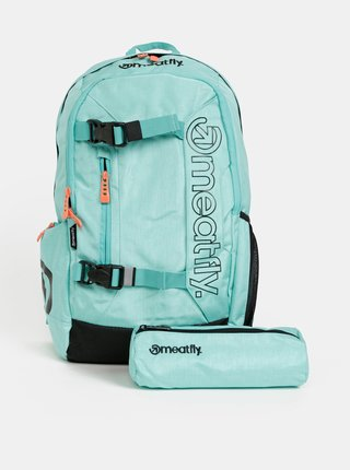 Svetlomodrý batoh s peračníkom 2v1 Meatfly 20 l