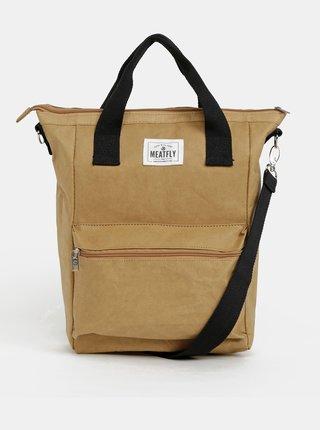 Hnědá kabelka Meatfly Angua Paper Bag 15 l