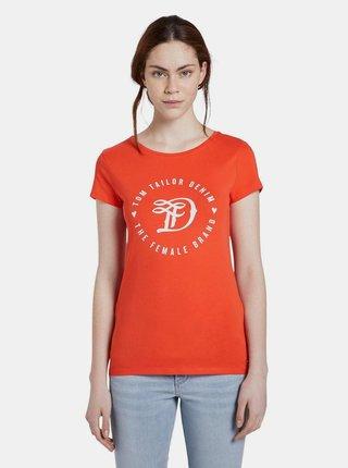 Červené dámske tričko s potlačou Tom Tailor Denim