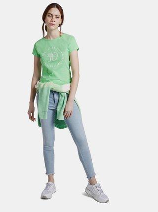 Svetlozelené dámske tričko s potlačou Tom Tailor Denim