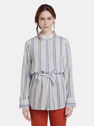 Biela dámska pruhovaná košeľa Tom Tailor Denim