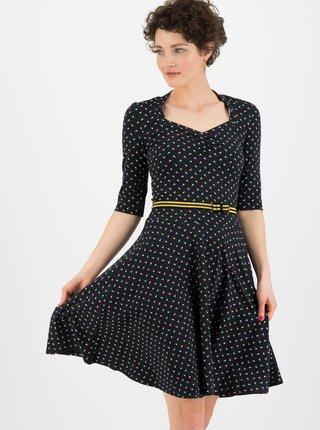 Čierne vzorované šaty Blutsgeschwister Disco flies